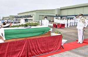 Indian Navy Bids Final Farewell To Commander Nishant Singh