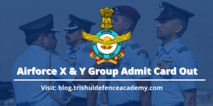 Air Force X & Y Group Exam Admit Card