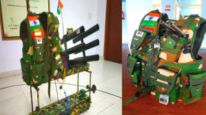 MIET Engineering College Did It ! Live gun for jawans, Hi-tech jacket equipped with camera