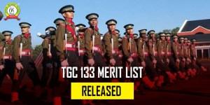 TGC 133 Merit List Released : Check Details