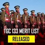 TGC 133 Merit List