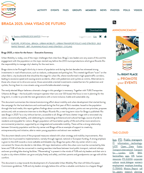 UITP_BragaMobilidade
