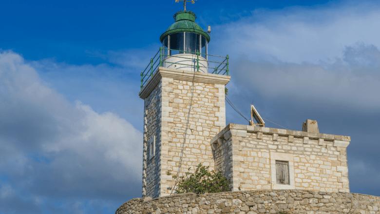 Kasteel op Agia Mavra in Lefkas