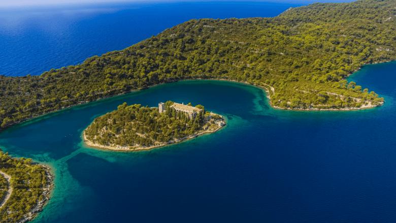 Nationaal park op Mljet in Kroatië