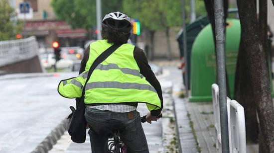 chaleco reflectante ciclistas