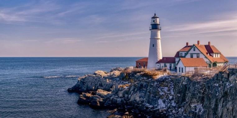 Portland lighthouse by the sea