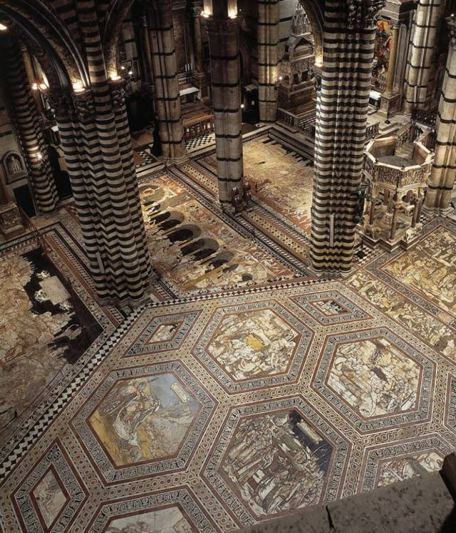 The Cathedral's mosaic floor