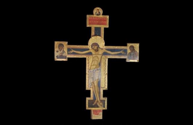 04 Giunta Pisano, Crocifisso con i Dolenti, Museo della Porziuncola, Assisi