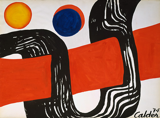 05 Alexander Calder, Le Grand Passage, 1974, tempera and India ink on paper