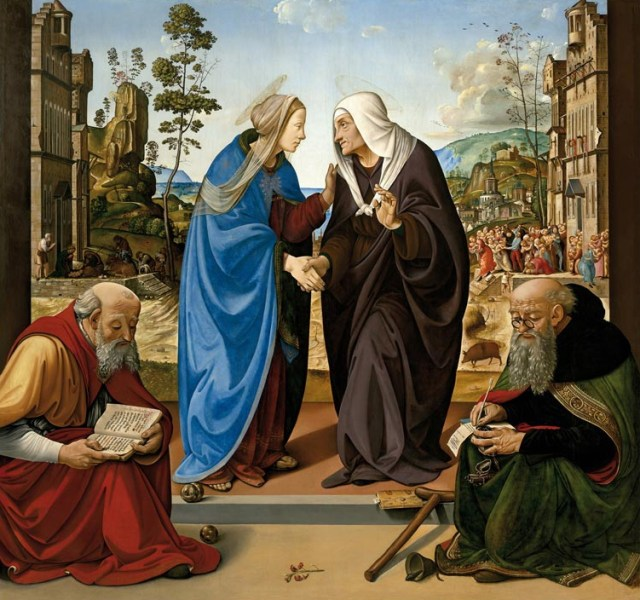 05 Piero di Cosimo, The Visitation with Saints Nicholas and Anthony, 1489–1490, National Gallery of Art, Washington