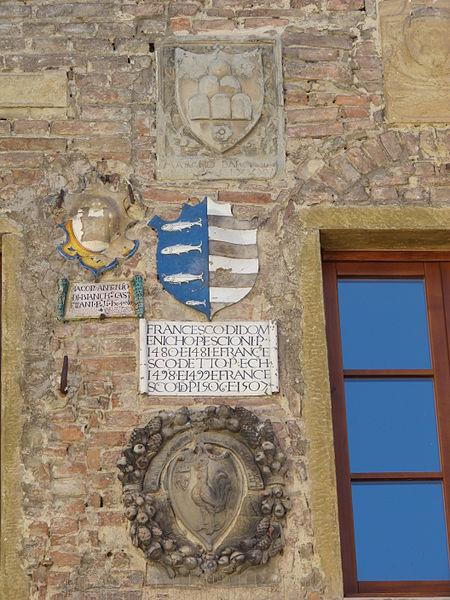 Detail of Palazzo Pretorio's façade