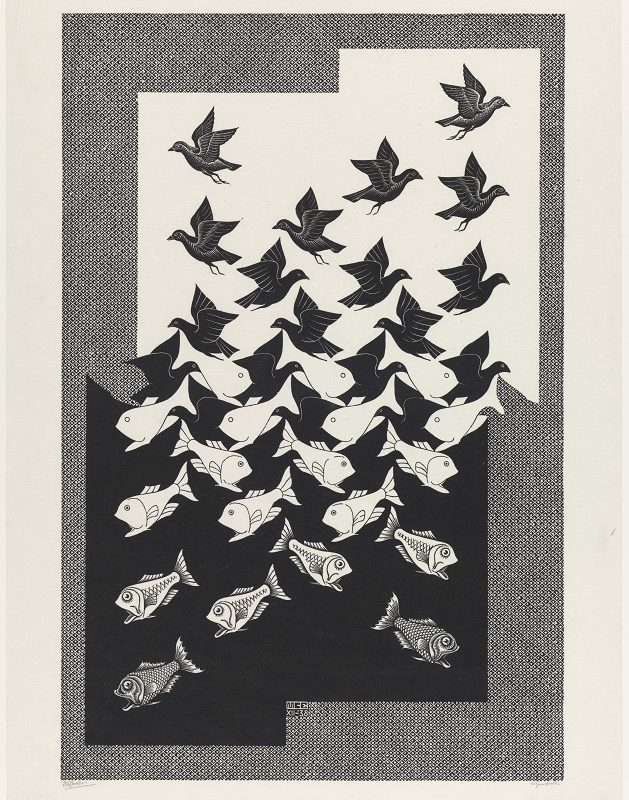 M.C. Escher, Sky and Water II, 1938 © the M.C. Escher Company B.V.-Baarn- the Netherlands