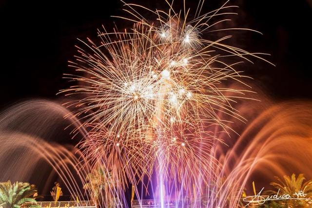 The firework display at the Carnival of Viareggio, ph. credits Andrea della Spora