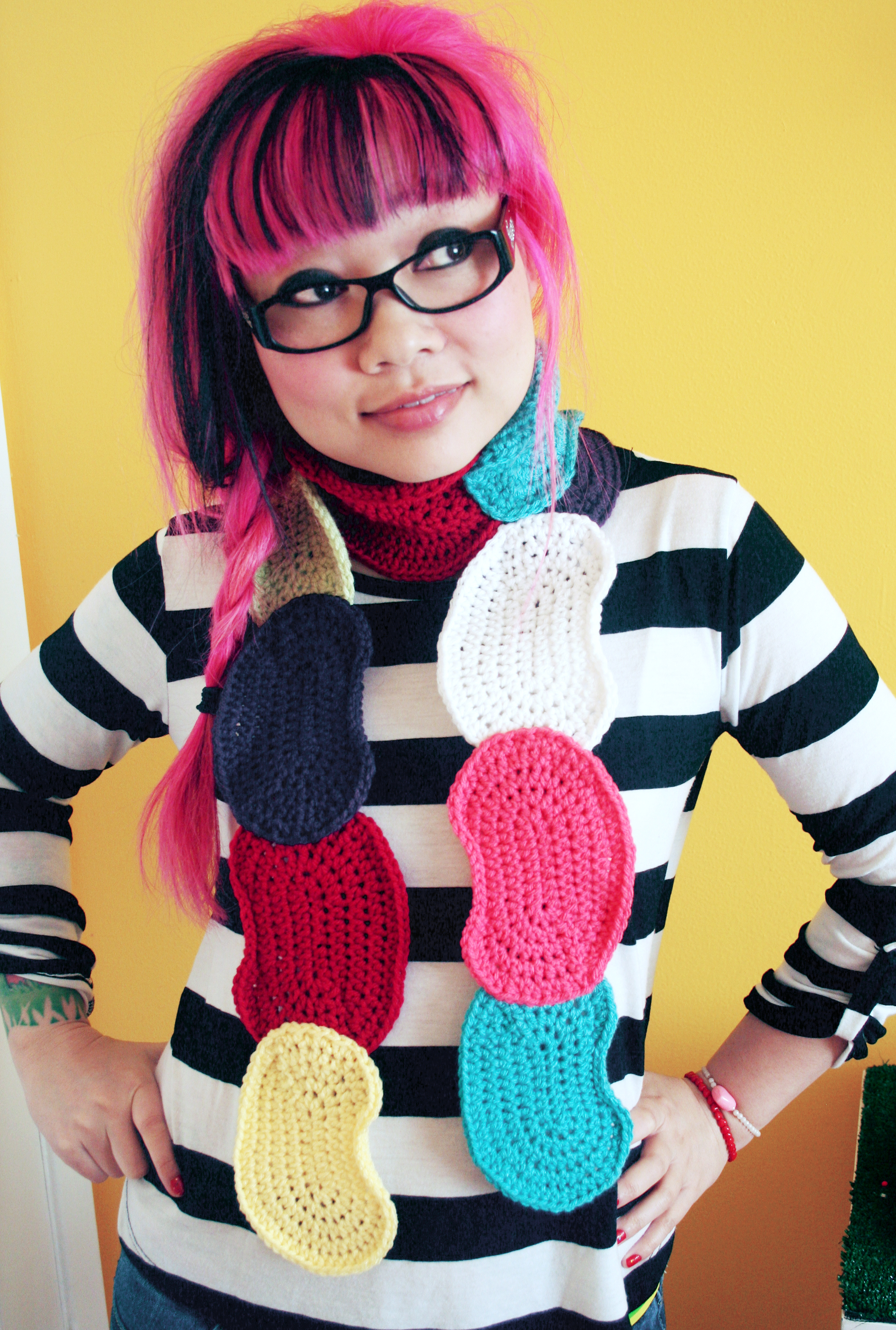 Free Pattern Jelly Bean Scarf At Michaels