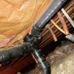 Crawlspace pipe
