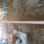 Pipe bedded in fine gravel