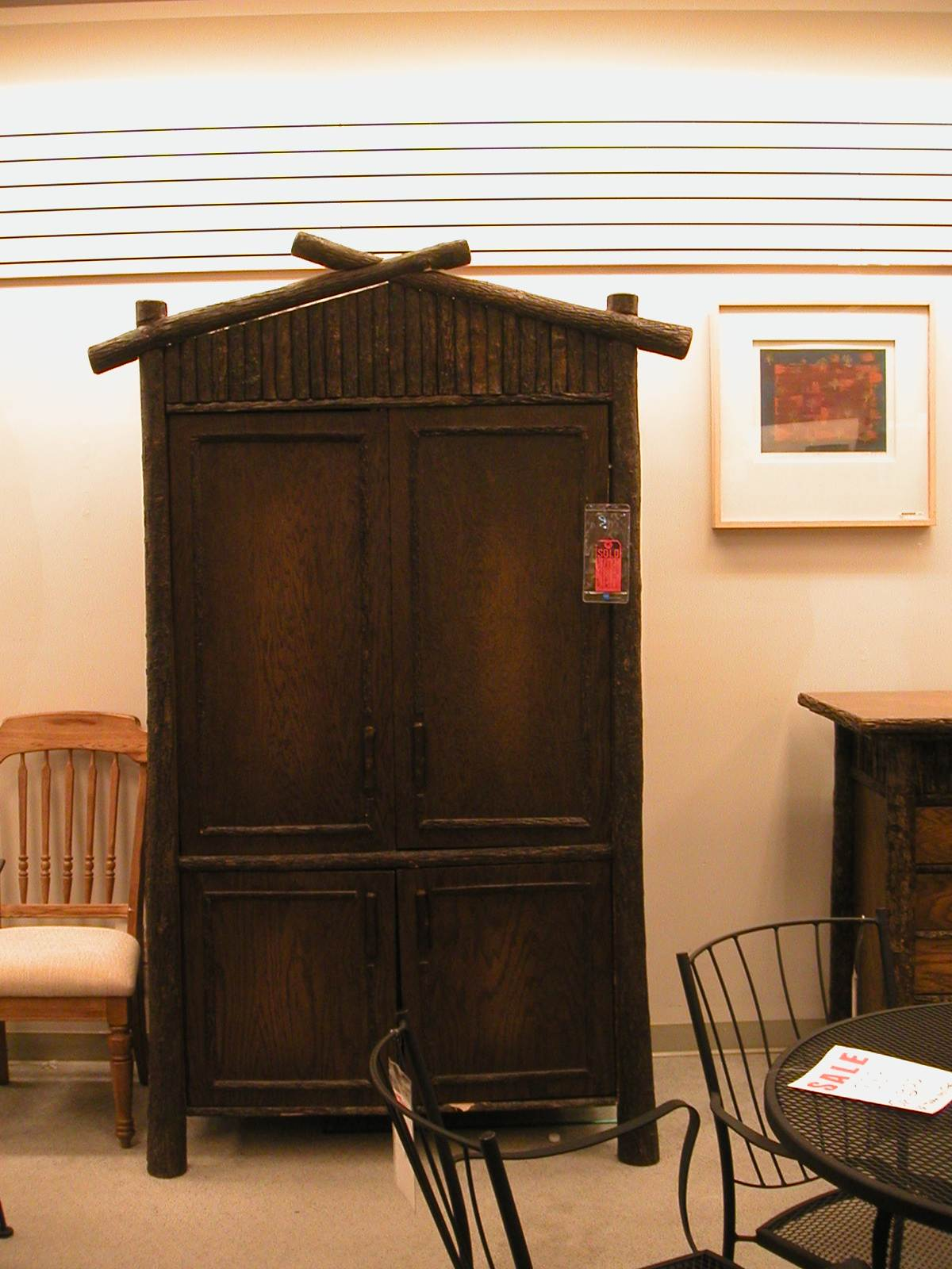 hickory tv cabinet on clearance at a robb and stuckey furniture outlet several years ago - Old Hickory Furniture