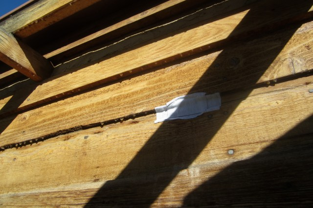 Patched siding