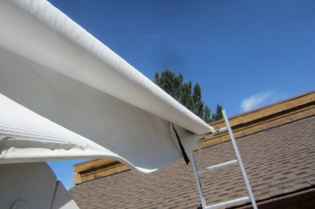 Tried to repair awning