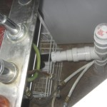 Air inlet and kitchen drain