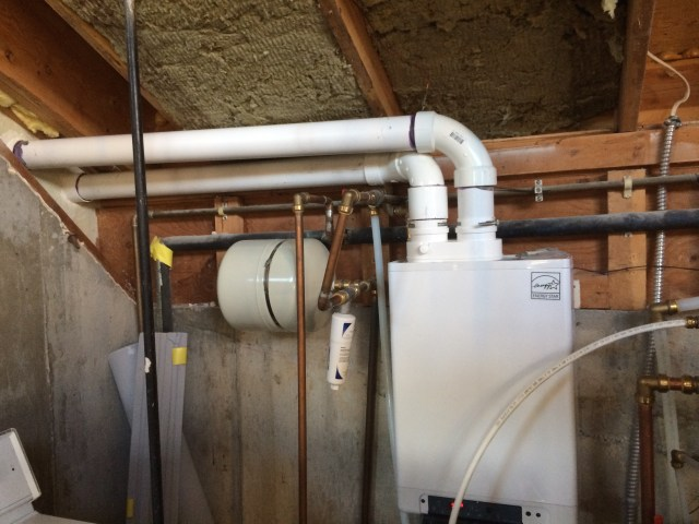 Rerouted vent pipes