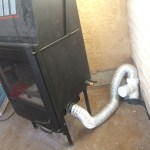 Flexible vent to wood boiler