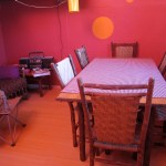 Kitchen table in bedroom