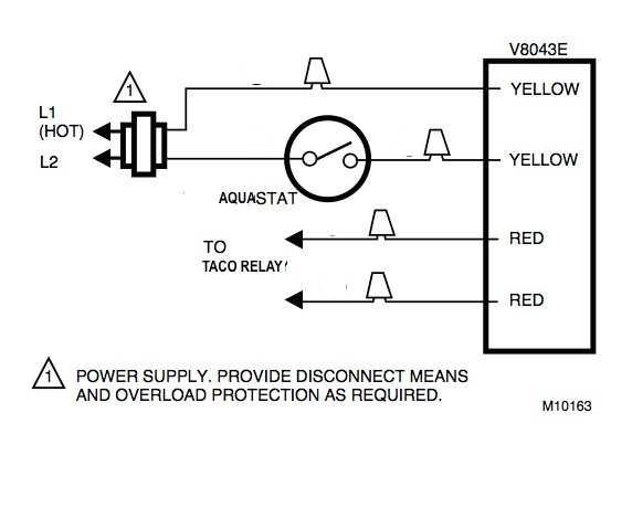 Honeywell Zone Valve Wiring to Taco Relay