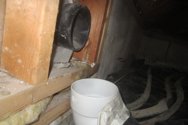 Crawlspace Radon Vent Pipe