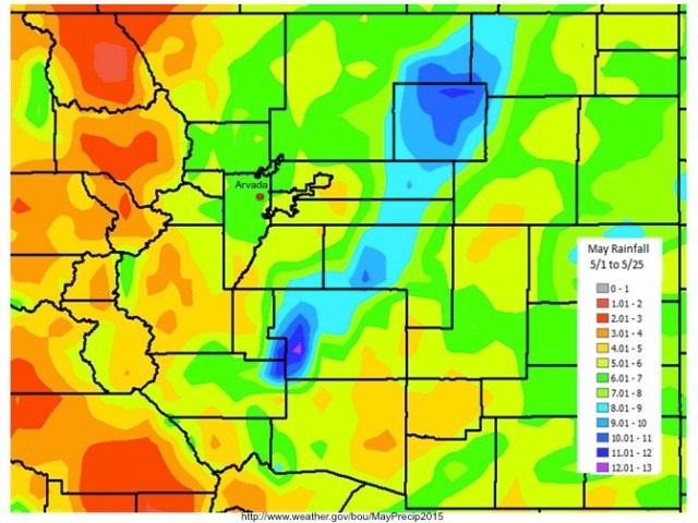 Colorado May Rainfall Totals 2015