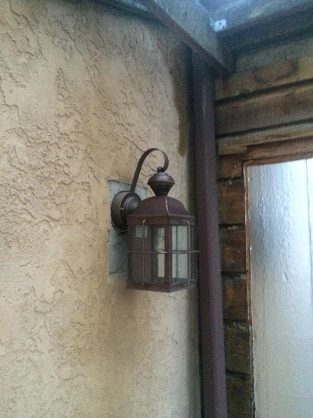 New light at front door