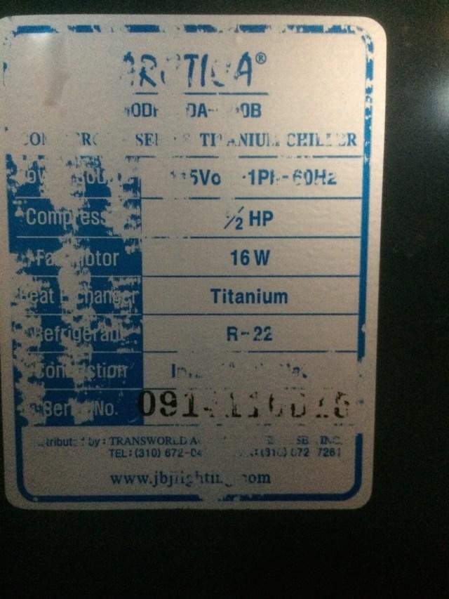 Chiller Label