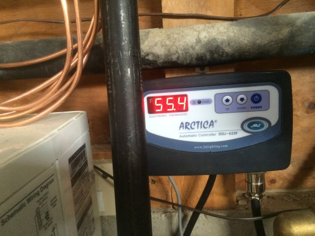 Chiller water temp at shut off