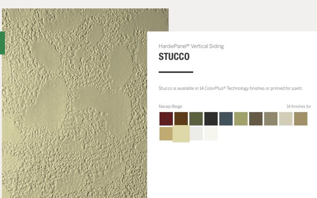 Cement Board Siding Stucco Finish