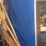 Installed and taped SIGA exterior house wrap
