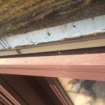 Top edge of patio doors