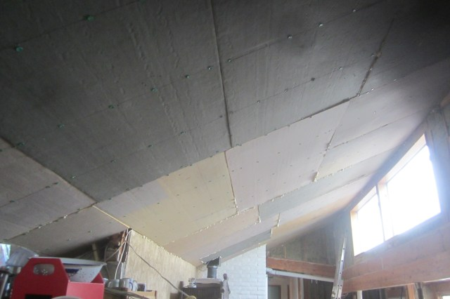Ceiling Covered with Polyiso