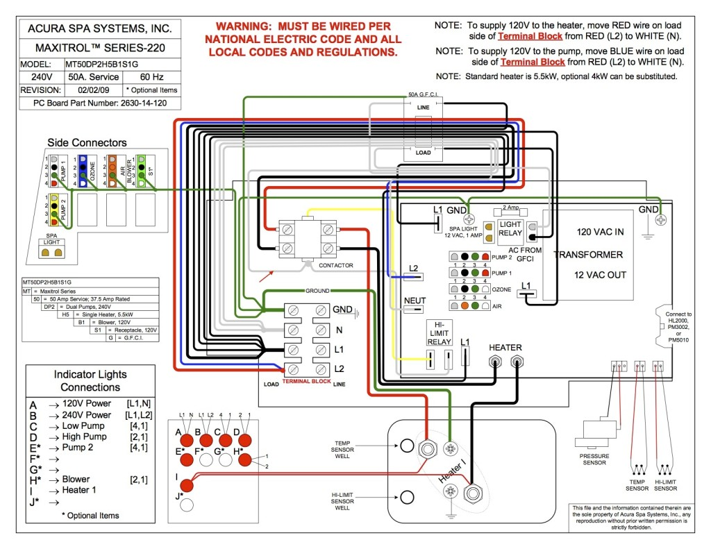 Acura Spa Wiring Diagram MT50DP2H5B1S1G 1024x791?resized665%2C514 balboa instruments wiring diagram spa wiring diagram schematic flo master xp2 wiring diagram at bayanpartner.co