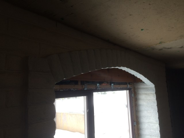 Arched Block Wall