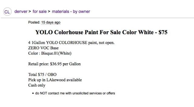 Yolo Paint Ad
