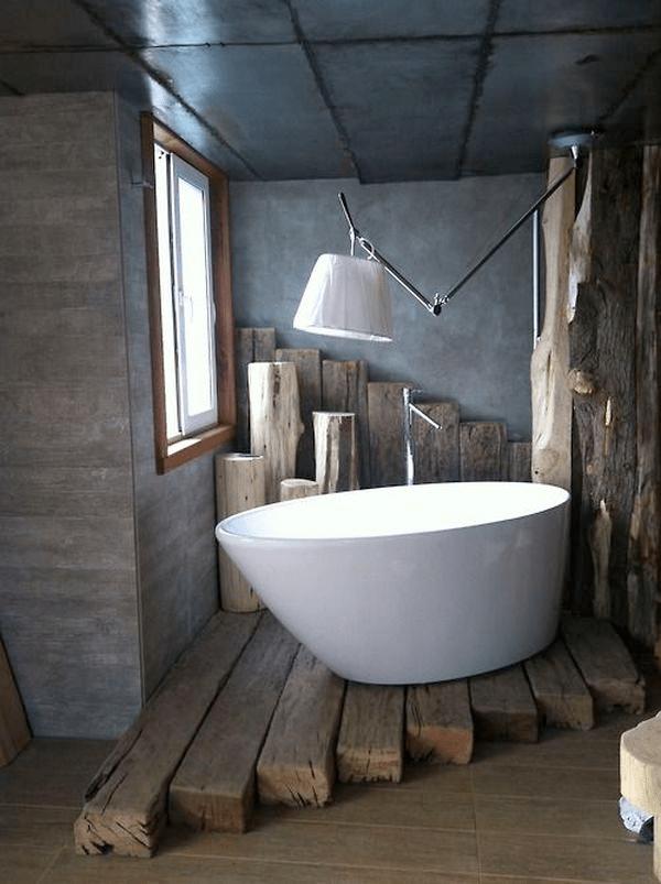 RR Ties Bath Platform