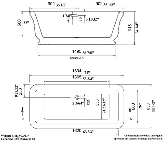 Roman Tub (3.0) Spec