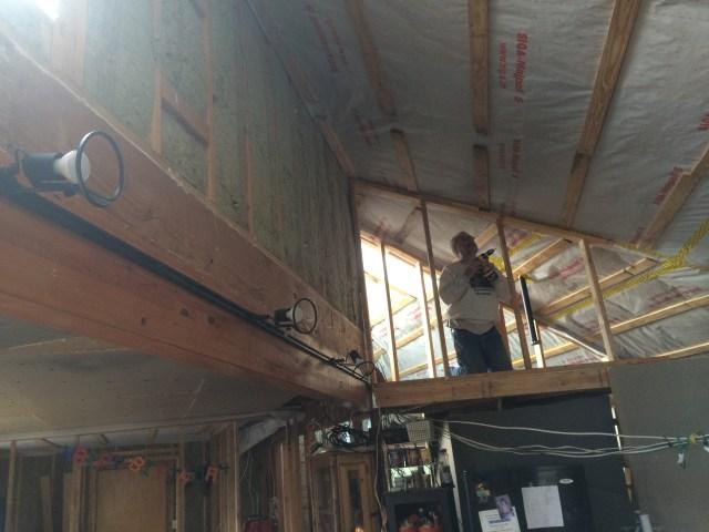 Installing new attic wall