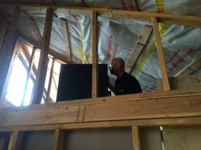 John with Ventilator in Attic