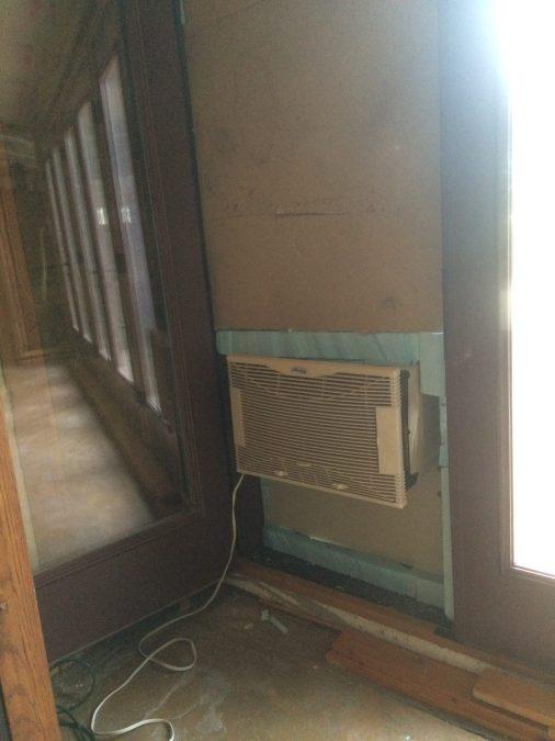 Evap Cooler installed in Door