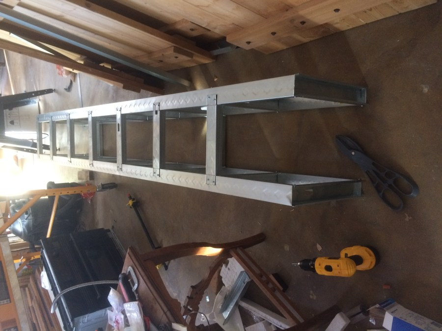 Preassembled section of soffit