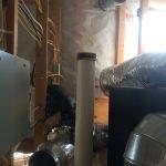 Supply ducting at ERV