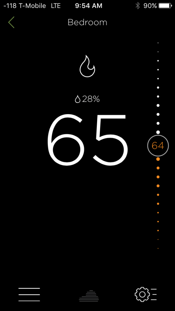 Ecobee Temp Screen
