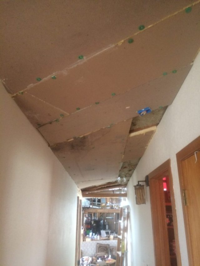 Insulation and Polyiso in Hallway