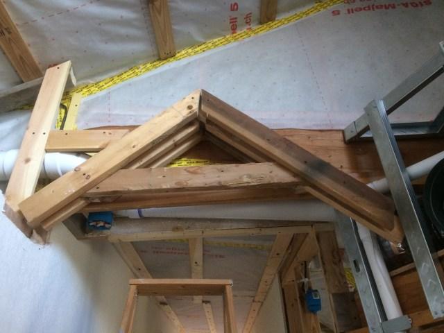 Cross piece installed